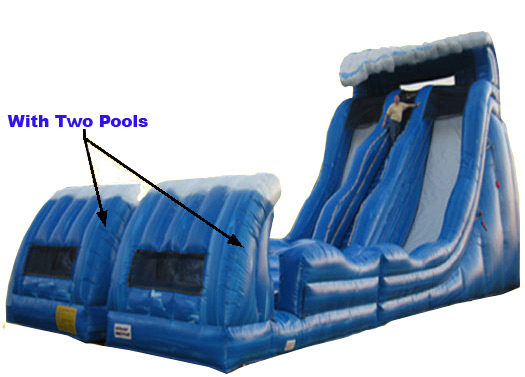 Goliath Double Lane Water Slide w/ 2 Pools