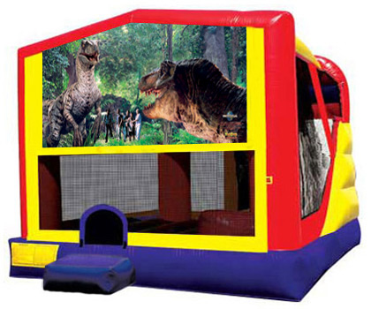 Extra Large Module 4 in 1 Combo Wet/Dry Slide With Jurassic Banner