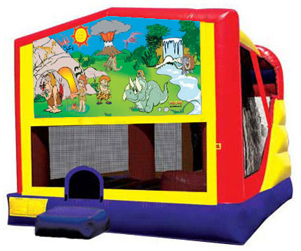 Extra Large Module 4 in 1 combo Wet/Dry Slide With Stone Age Banner