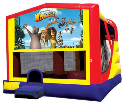 Extra Large Module 4 in 1 Combo Wet/Dry Slide With Madagascar Banner