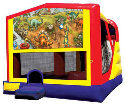 Extra Large Module 4 in 1 combo Wet/Dry Slide With Dinosaur Planet Banner