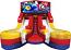 Module Junior Double Lane Water Slide Wet/Dry - w/Super Mario Banner