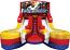 Module Junior Double Lane Water Slide Wet/Dry - w/Transformers Banner