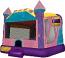 Extra Large Glitz & Glam Dream Castle 4 in 1 Combo Wet/Dry Slide