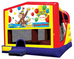 Extra Large Module 4 in 1 Combo Wet/Dry Slide With Curious George Happy Birthday Banner